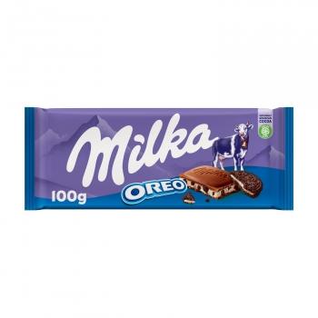 Chocolate con leche relleno de oreo Milka 100 g.