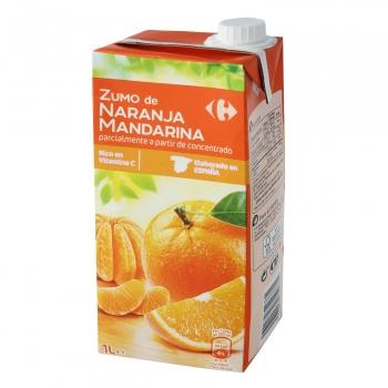 Zumo de naranja y mandarina Carrefour brik 1 l.