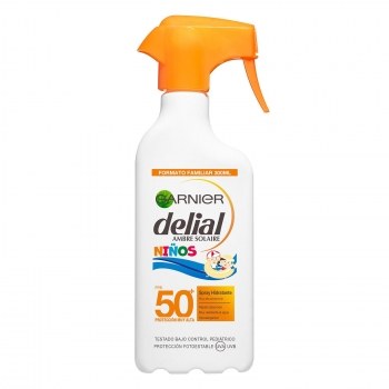 Spray solar hidratante niños FPS 50+ Delial 300 ml.