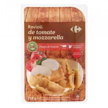 Ravioli de tomate y mozzarella al huevo Carrefour 250 g.