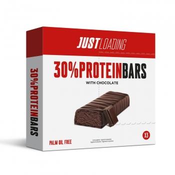Barritas sabor chocolate intenso Just Protein pack de 3 unidades de 35 g.