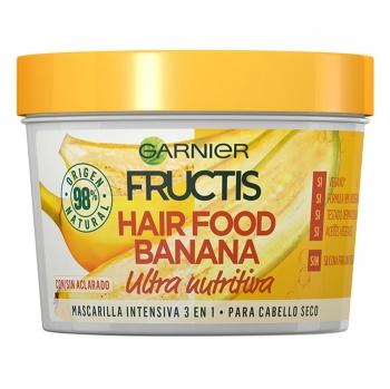 Mascarilla capilar 3 en 1 Hair Food Banana Ultra nutritiva Para cabello seco Garnier Fructis 390 ml.