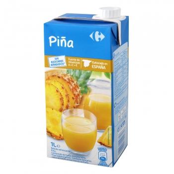 Bebida de piña Carrefour sin azúcar añadido brik 1 l.