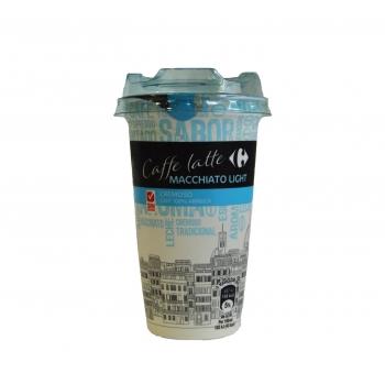 Café latte macchiatto light Carrefour sin gluten 250 ml.