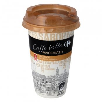 Café latte macchiatto Carrefour sin gluten 250 ml.