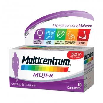 Multivitamínico y multimineral Mujer Multicentrum 90 comprimidos.