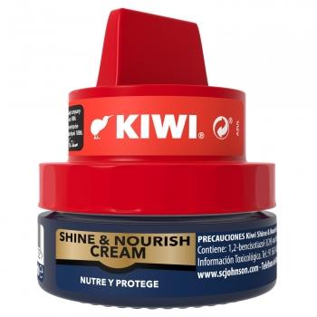 Crema para calzado color azul Kiwi 50 ml.
