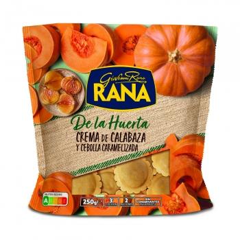 Ravioli de crema de calabaza y cebolla caramelizada Rana de la Huerta 250 g.