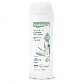 Crema hidratante para piel normal con aceite de oliva Babaria 400 ml.