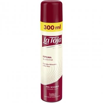 Espuma de afeitar con sales minerales y aloe de vera para piel sensible La Toja 300 ml.