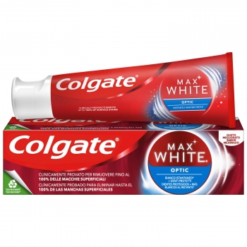 Dentífrico blanqueador optic Max White Colgate 75 ml.