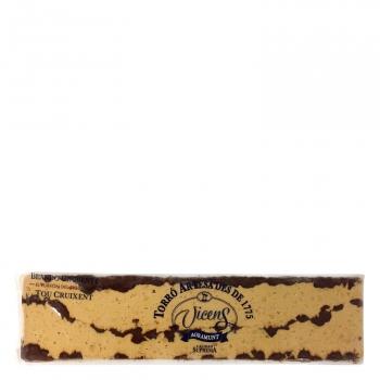 Turrón blando de chocolate crujiente Vicens 300 g.