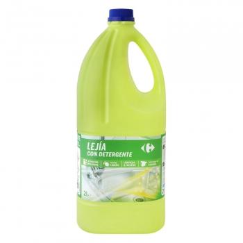 Lejía con detergente limón Especial Cocinas Carrefour 2 l.