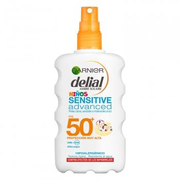 Spray solar para niños sensitive advanced FPS 50+ Delial 200 ml.