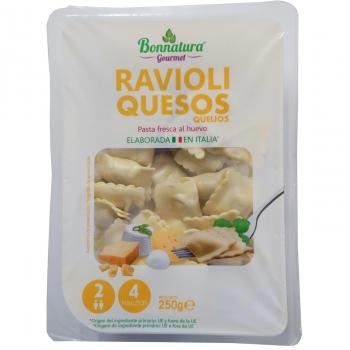 Ravioli 4 quesos Bonnatura 250 g.