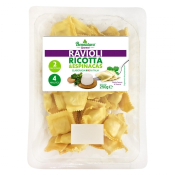 Ravioli de ricotta y espinacas Bonnatura 250 g.