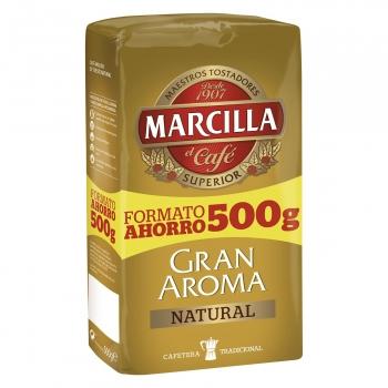 Café molido natural Gran Aroma Marcilla 500 g.
