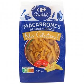 Macarrones Carrefour No Gluten sin gluten 500 g.