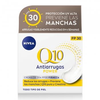 Crema facial cuidado de día FP 30 con Q10 natural & creatina Q10 Power Antiarrugas + Firmeza Nivea 50 ml.