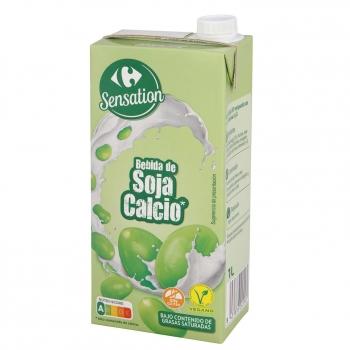Bebida de soja con calcio Carrefour sin gluten brik 1 l.