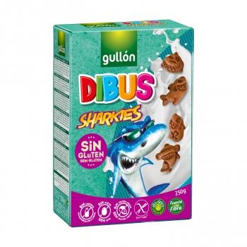 Galletas Dibus Sharkies Gullón sin gluten y sin lactosa 250 g.