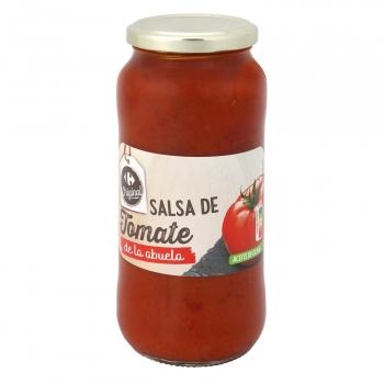 Salsa de tomate De la Abuela Carrefour tarro 580 g.