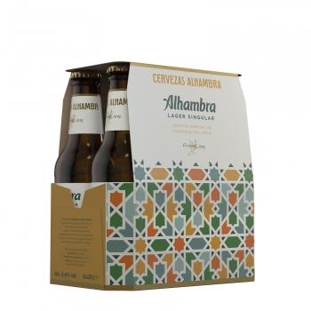 Cerveza Alhambra Lager Singular pack 6 botellas de 25 cl.