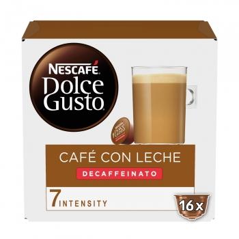 Café con leche descafeinado en cápsulas Nescafé Dolce Gusto 16 ud.