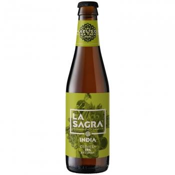 Cerveza artesana La Sagra IPA botella 33 cl.