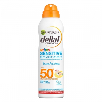 Bruma para niños anti arena sensitive advanced FPS 50+ Delial 200 ml.