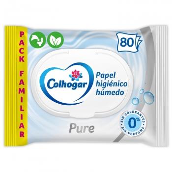 Papel higiénico húmedo Pure Colhogar 80 ud.