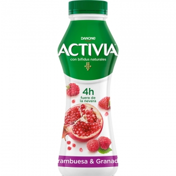 Yogur bífidus líquido de frambuesa y granada Danone Activia 280 g.