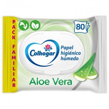 Papel higiénico húmedo con aloe vera Colhogar 80 ud.
