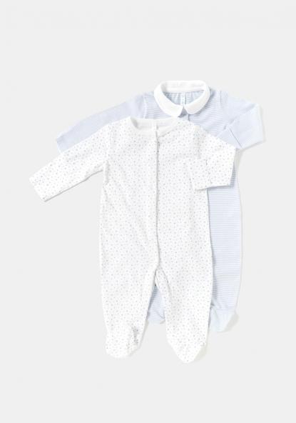e12970e6a9f Pack de dos pijamas para recién nacido unisex TEX