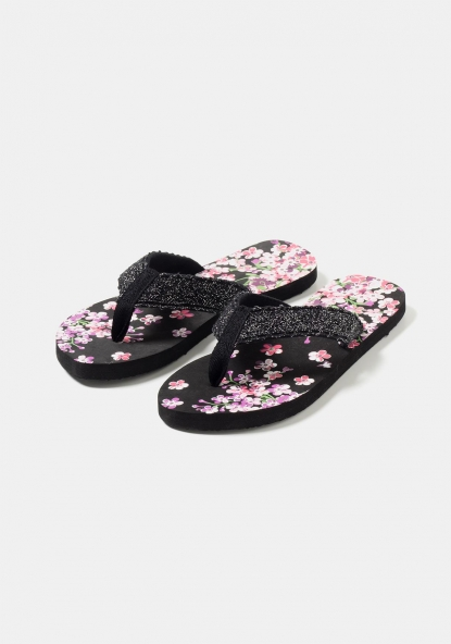 Chanclas estampadas con encaje TEX