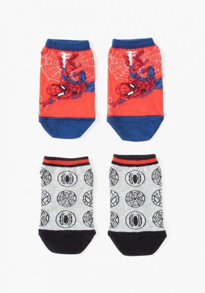 Pack de dos calcetines tobilleros Spiderman de MARVEL
