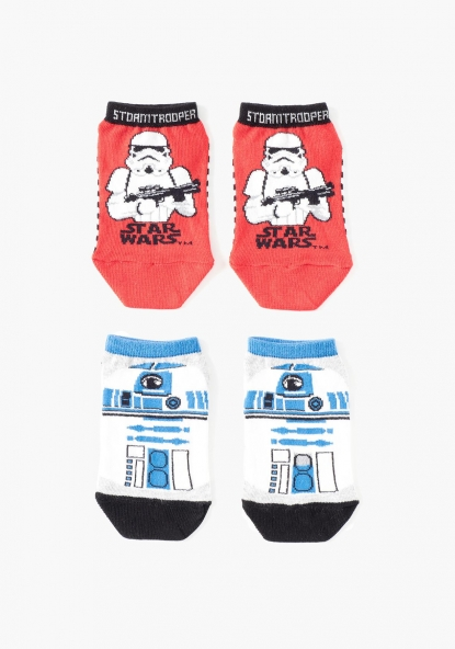 Pack de dos calcetines tobilleros Star Wars de DISNEY