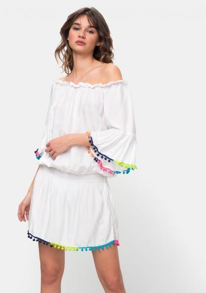 Vestidos De Mujer Moda Carrefour Tex Pagina1 - Vestido-blanco-largo-ibicenco