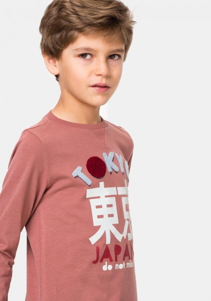 Camiseta de manga larga estampada TEX
