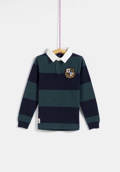 Polo manga larga tipo rugby TEX