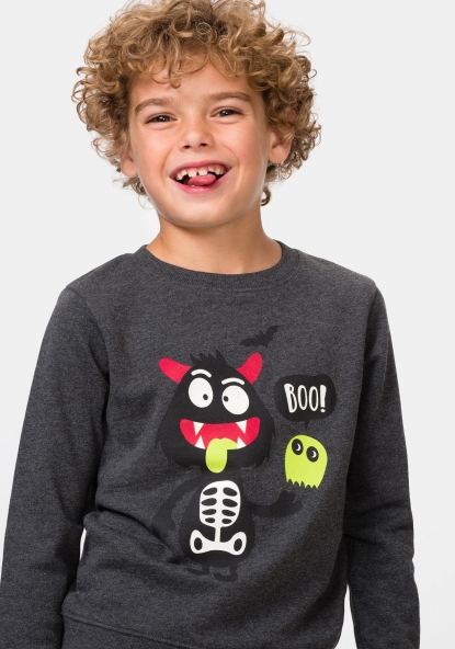 Sudadera estampada Halloween TEX