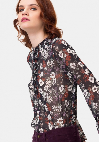 Blusa de manga larga estampada TEX