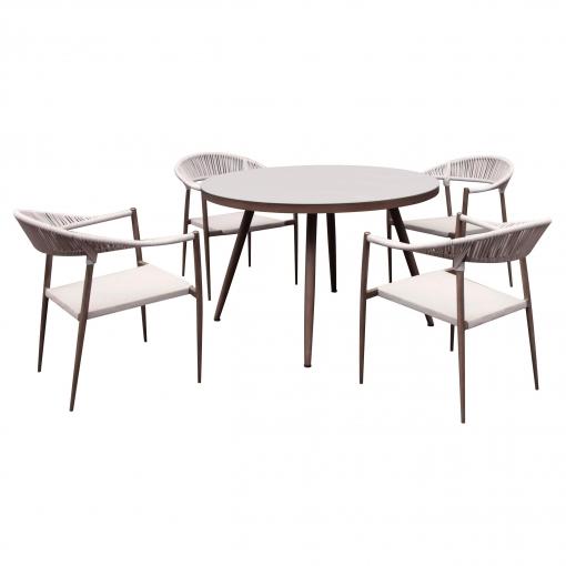 Conjunto Comedor con Mesa + 4 Sillas - Cuerda