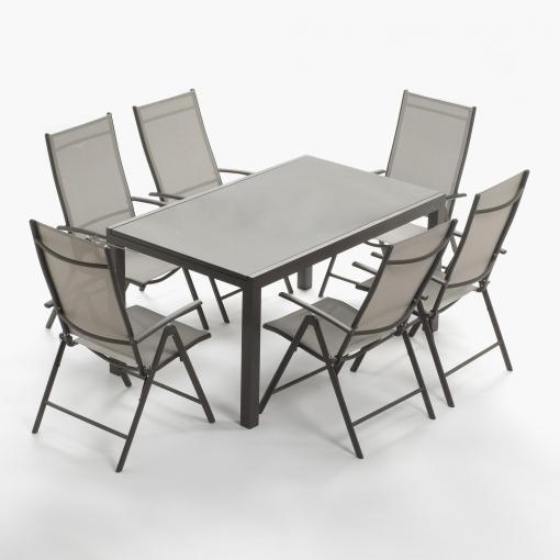 Set m laga extensible mesa 6 sillones m laga las - Sillones malaga ...