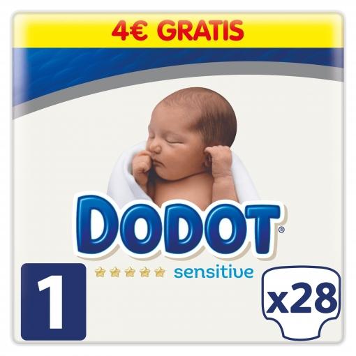 c2f3cc39c Pañales Dodot Sensitive Recién Nacido Talla 1 (2-5 kg) 28 uds | Las ...