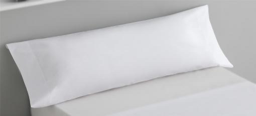 Funda de Almohada microfibra 45x115 cm Blanco
