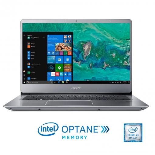 Portátil Acer Swift 3 SF314-54-33DT con i3, 4GB + 16GB OPTANE, 1TB, 35,56 cm - 14''