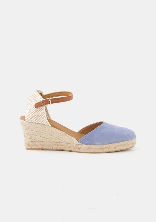 Sandalias de piel con cuña TEX