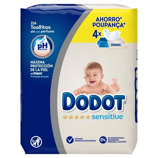 20cecec00 Toallitas de Bebé Dodot Sensitive Recambio 4x54 uds
