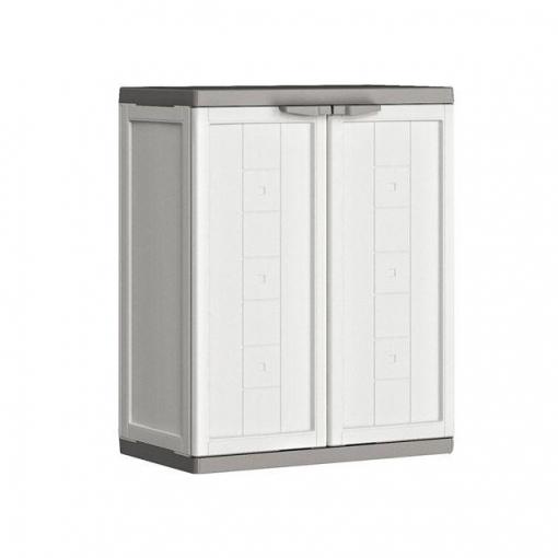 armario bajo de resina jolly blanco gris las mejores